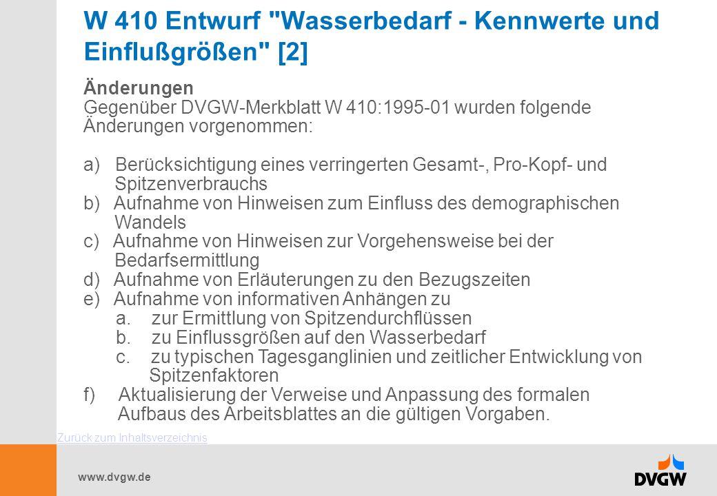 W 410 Entwurf Wasserbedarf - Kennwerte und Einflußgrößen [2]